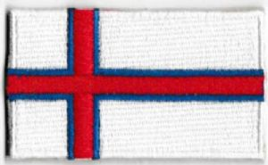 Faroe Islands Embroidered Flag Patch, style 04